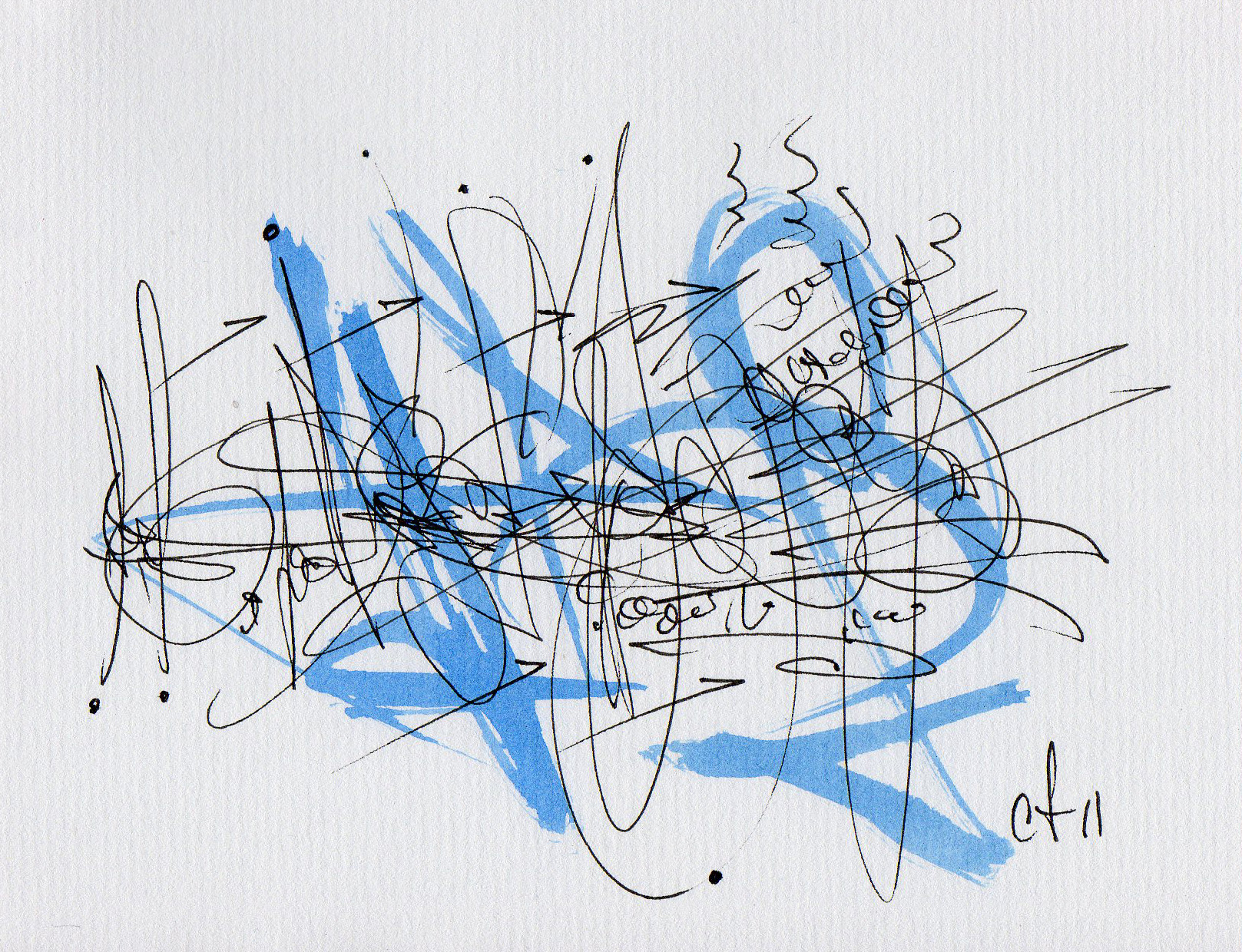 Cecil Touchon - asemic writing from 2011