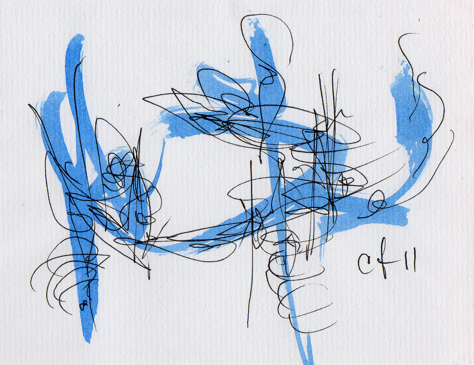 Asemic writing from 2011 by Cecil Touchon