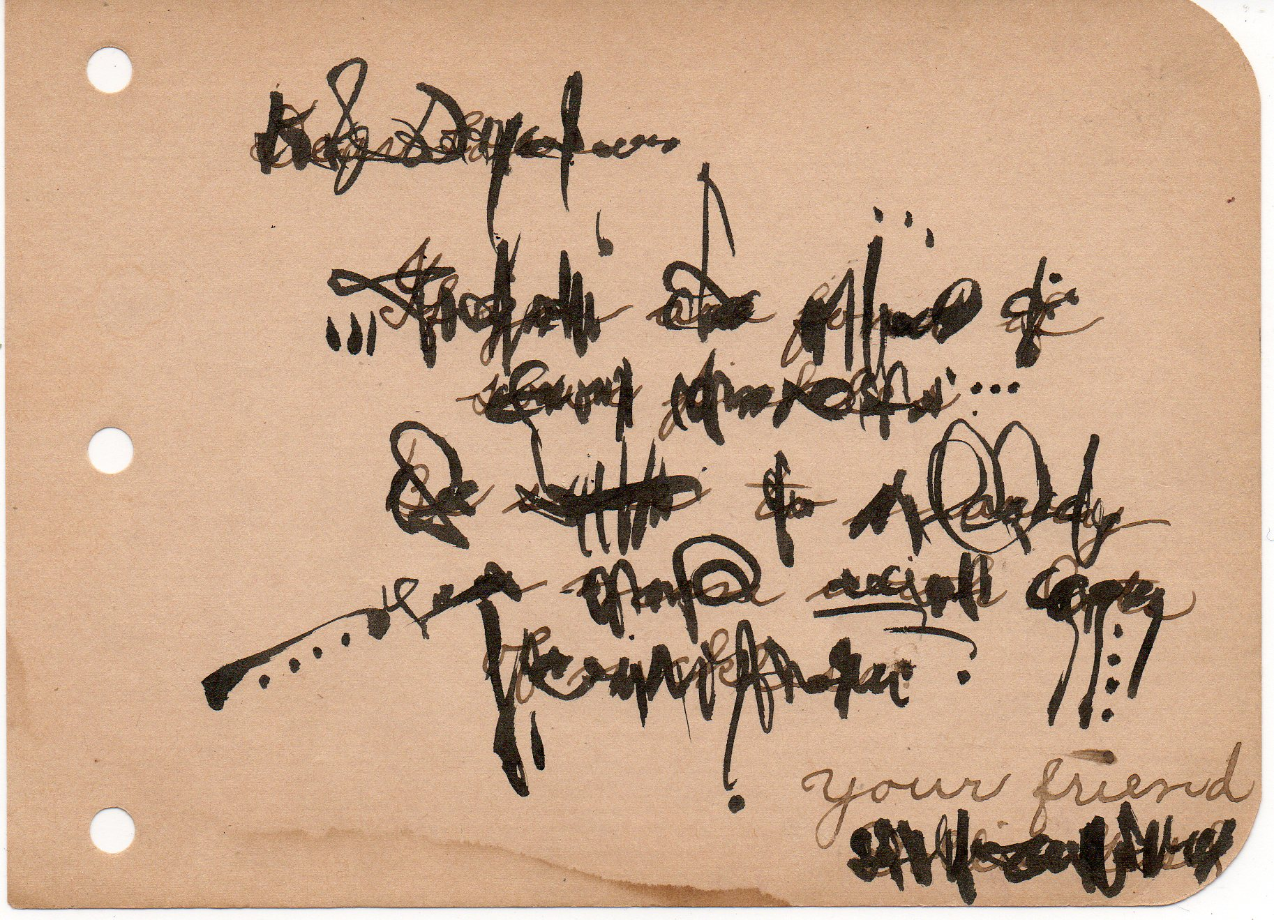 Asemic correspondence by Cecil Touchon